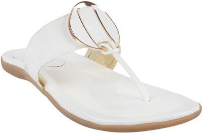 Touch Walk Women White Flats