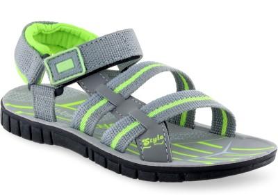 PU-Tiger Boys Green Sandals