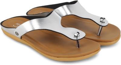 My Foot Women Silver Flats