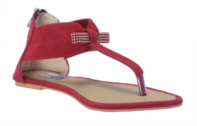 Fabme Women Red Flats