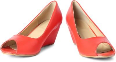 Van Heusen Women Red Wedges
