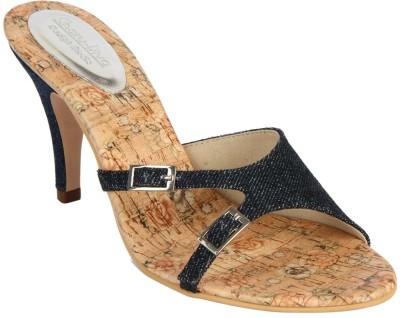 Charu- Diva Design Studio Women Blue, Beige Heels