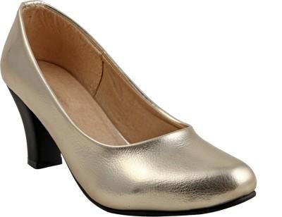 Adorn Women Gold Heels