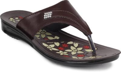 Fluid Pu Ladies Women Brown Flats