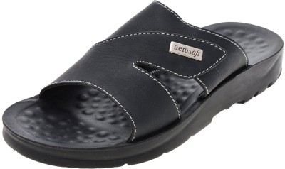 Aerosoft Men Black Sandals