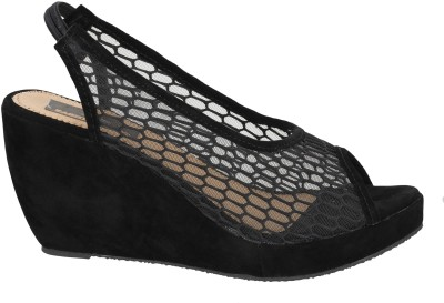 Fashion Feet Women Black Wedges