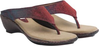 Allinyou Women Maroon Flats