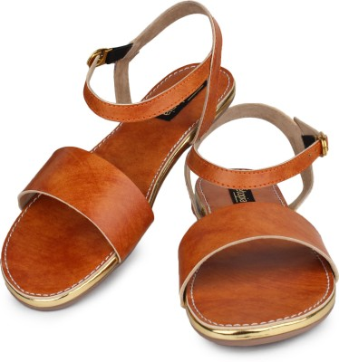 Shoetopia Women Orange Flats
