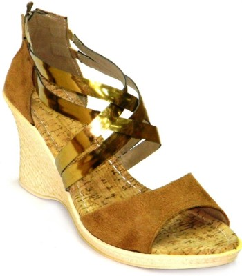 Celebrity Stylish Party and Office Wear Girls Brown Wedges