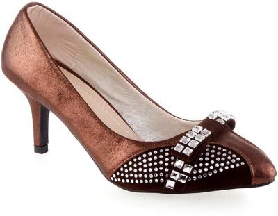 Kielz Fancy Women Brown Heels