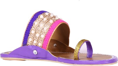 Royal Collection Women Purple Flats