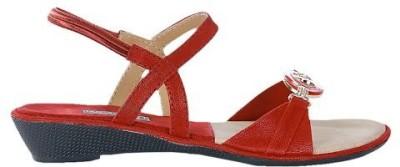 Leatherwood1 Women Red Wedges