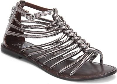Zebba Women Silver Flats