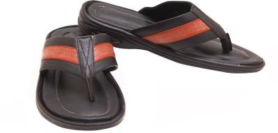 Canvera Men Black, Red Sandals