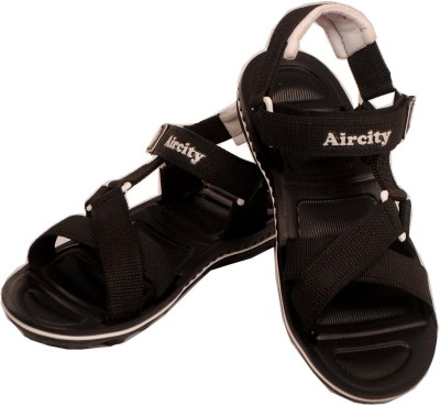 Aircity Men Brown, White Sandals