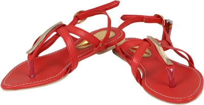Berrypeckers Women Red Flats