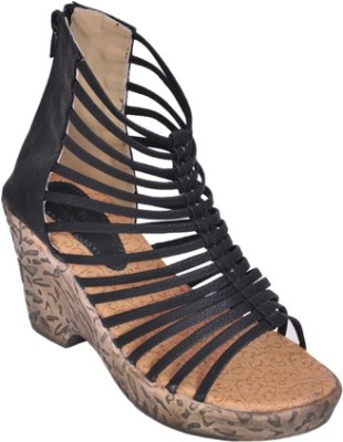 Shoe Dice Women Black Wedges