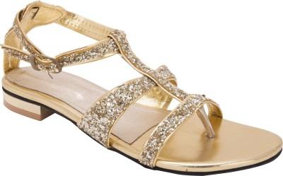 Trotters Women Gold Flats
