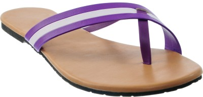 Cws Women Purple, White Flats