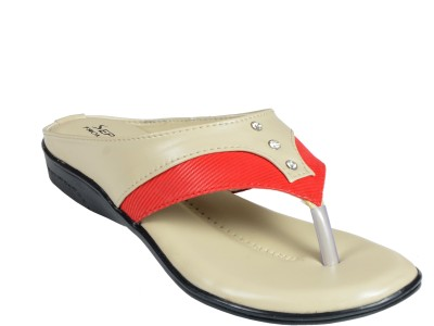 Liberty Women Beige, Red Flats