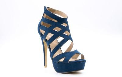Belle Gambe Women Blue Heels