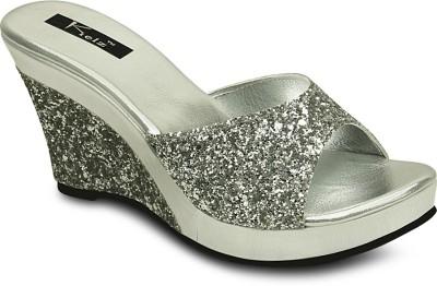 Kielz Women Silver Wedges