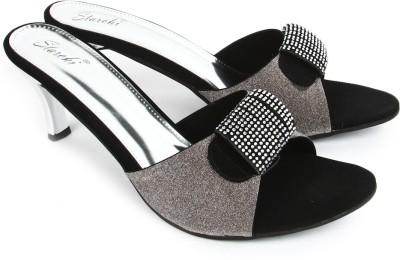 Starchi Women Grey, Silver Heels