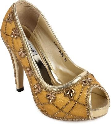 FOOTASH Women Gold Heels
