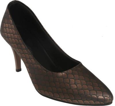 Shoe Bazar Women Brown Heels