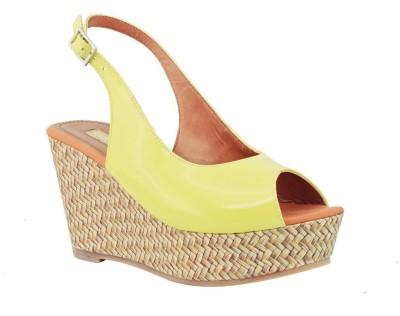 Fabfoot Women Yellow Wedges