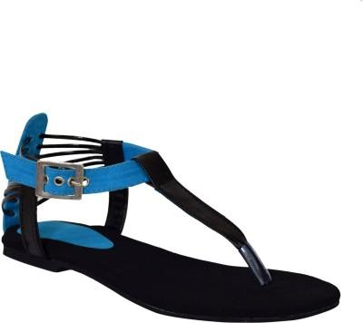 Stepee Women Blue Flats