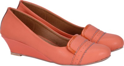 Fashion Mafia Women Orange Wedges