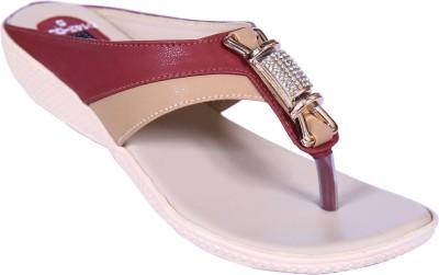Smalto Women Maroon Flats