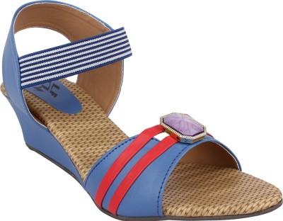 hirafashionwear Women Blue Wedges