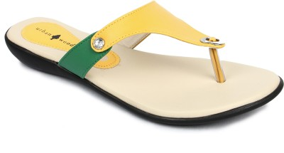 Urban Woods 671-3585-Yellow Women Yellow, Green Flats