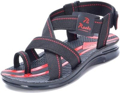Pu-Rocks Men Black, Red Sandals