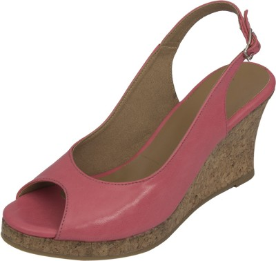 Strapup Women Pink Wedges
