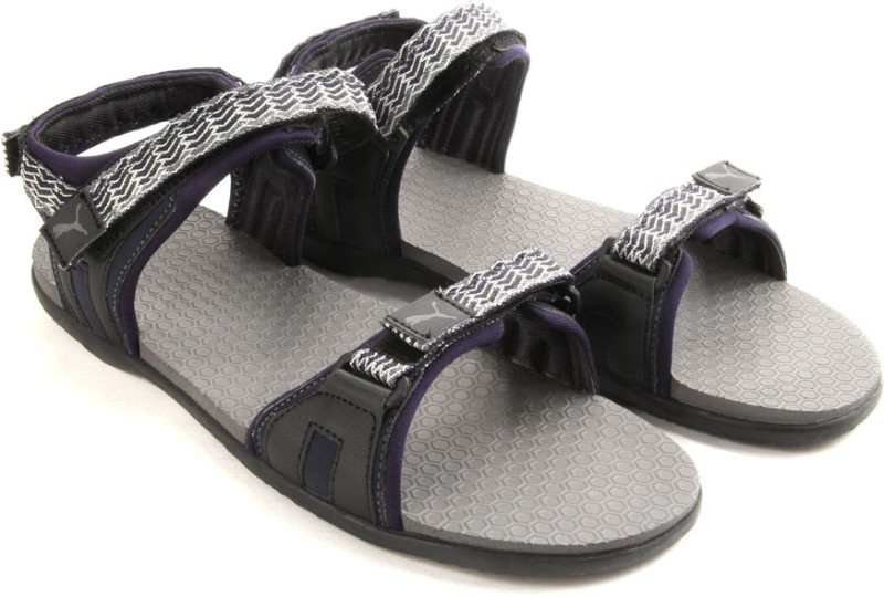 Puma Zoom DP Women Women Black Grey Sandals SNDEGYFZFH37BZ3D