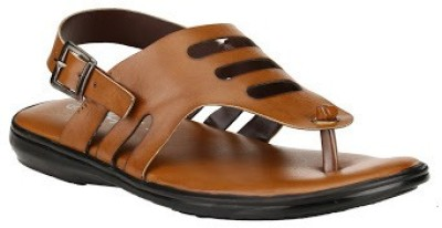 Jacs Shoes Men Tan Sandals