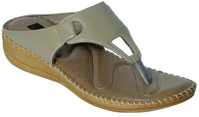 Alexus Girls Slipper Flip Flop(Beige)