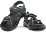 Globalite Men Navy Lime Sports Sandals