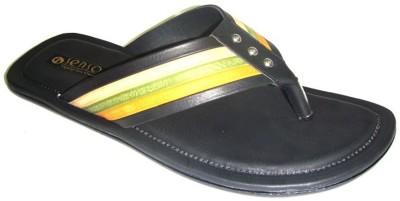 Senso Vegetarian Mens Casual and trendy V-Shaped Black Men Black Sandals