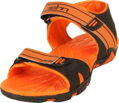 Spinn Men Black, Orange Sandals
