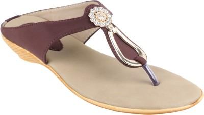 NUTAN STORES Women Brown Flats