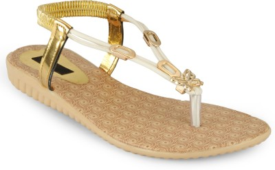 Something Different Women Beige, White Flats