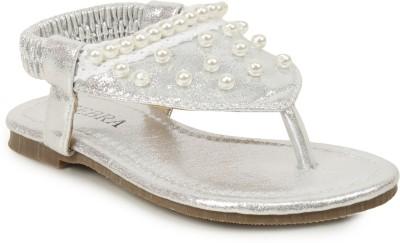Zebra Girls Silver Sports Sandals