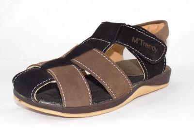 Trendy Enterprises Boys Black, Brown Sandals