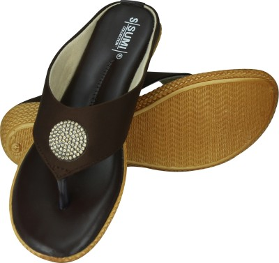 SUMI Collections Women Brown Wedges