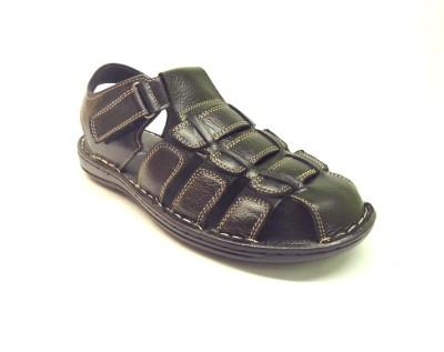 Die Cut Men Black Sandals
