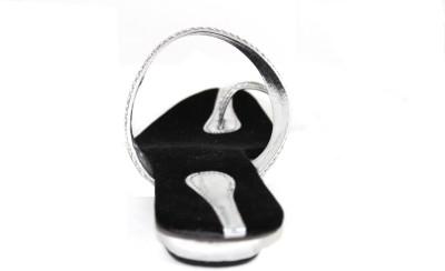 Kala Sanskriti Women Silver, Black Heels